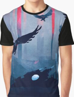 Blue Stone Landscape Graphic T-Shirt