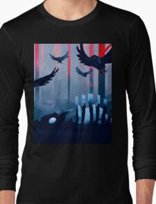 Blue Stone Landscape Long Sleeve T-Shirt