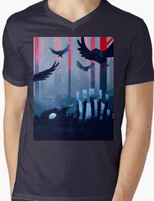 Blue Stone Landscape Mens V-Neck T-Shirt