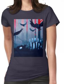 Blue Stone Landscape Womens Fitted T-Shirt