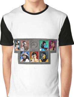 Mortal Kombat Character Select Graphic T-Shirt