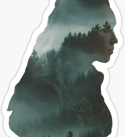 Lexa - The 100 - Forest Sticker