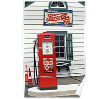 Route 66 - Illinois Vintage Pump Poster