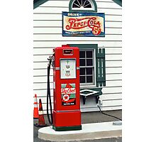 Route 66 - Illinois Vintage Pump Photographic Print