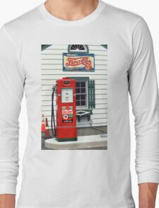 Route 66 - Illinois Vintage Pump Long Sleeve T-Shirt