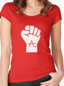 AlienLeague - Fight Human Oppression (w) Women's Fitted Scoop T-Shirt