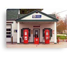 Route 66 - Illinois Vintage Pumps Canvas Print