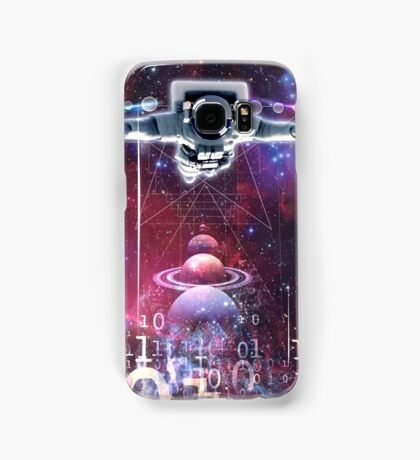 Space astronaut floating endlessly in the galaxy Samsung Galaxy Case/Skin