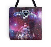 Space astronaut floating endlessly in the galaxy Tote Bag