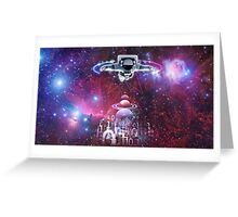 Space astronaut floating endlessly in the galaxy Greeting Card