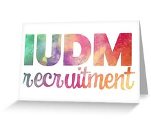 IUDM Recruitment Sticker Greeting Card
