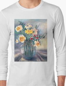 Spring Beauties In A Glass Vessel Long Sleeve T-Shirt