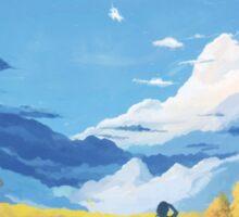 The landscape in my mind Sticker
