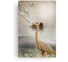 Great Blue Heron at Dusk Canvas Print