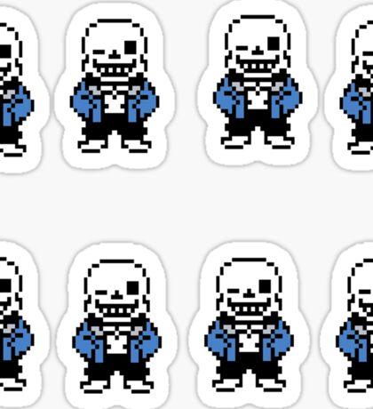 Undertale - Sans Sticker (8 pack) Sticker