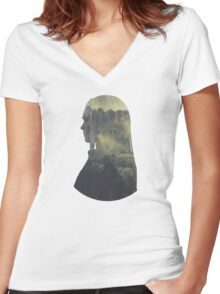 Clarke - The 100 - Forest Women's Fitted V-Neck T-Shirt