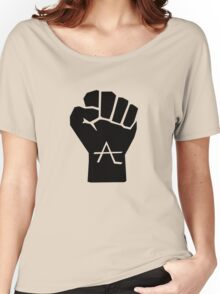 AlienLeague - Fight Human Oppression (b) Women's Relaxed Fit T-Shirt