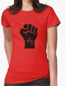 AlienLeague - Fight Human Oppression (b) Womens Fitted T-Shirt