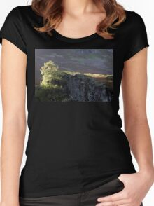 Tree, Sun and Stone. Lake District. Women's Fitted Scoop T-Shirt