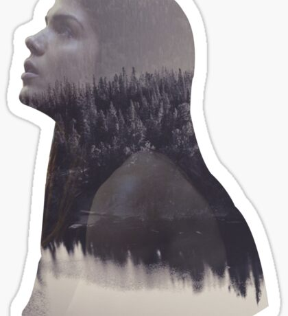 Octavia - The 100 - Forest Sticker
