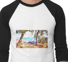 .Pastels Of The Desert Morning. Men's Baseball ¾ T-Shirt