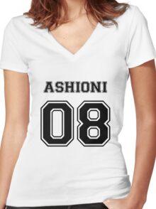 Spirited Away - Ashioni Varsity Women's Fitted V-Neck T-Shirt