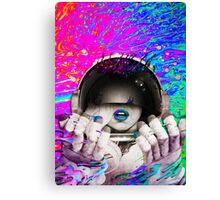 Psychedelic Astronaut (Vintage Effect) #2 Canvas Print