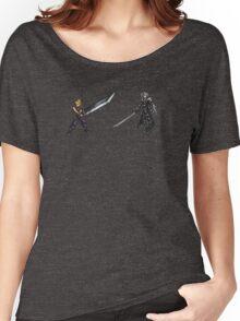 Cloud vs Sephiroth (FF7) - FFRK Boss Sprites Women's Relaxed Fit T-Shirt