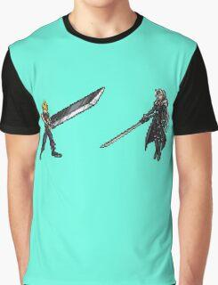 Cloud vs Sephiroth (FF7) - FFRK Boss Sprites Graphic T-Shirt