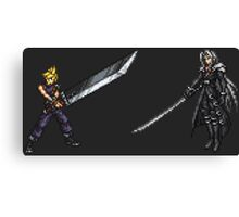 Cloud vs Sephiroth (FF7) - FFRK Boss Sprites Canvas Print