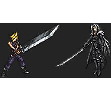 Cloud vs Sephiroth (FF7) - FFRK Boss Sprites Photographic Print