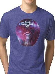 Space astronaut floating endlessly in the galaxy Tri-blend T-Shirt