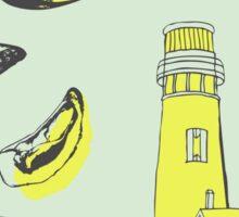 Yellow Coastal Pattern Sticker