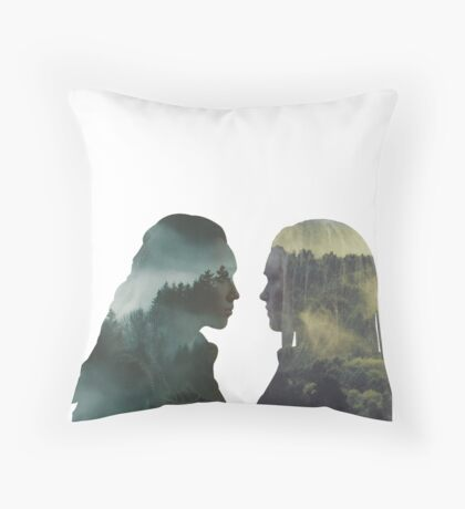 Clexa - The 100 - Forest Front Throw Pillow