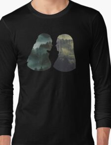 Clexa - The 100 - Forest Front Long Sleeve T-Shirt