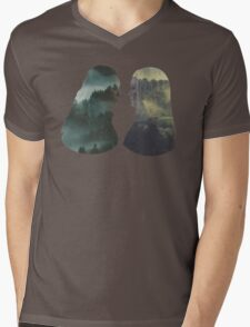 Clexa - The 100 - Forest Front Mens V-Neck T-Shirt