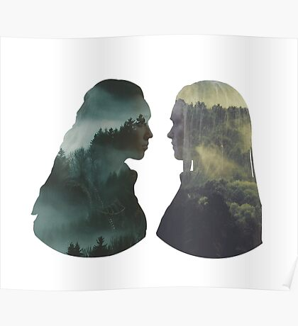 Clexa - The 100 - Forest Front Poster
