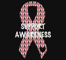 Awareness Ribbon One Piece - Short Sleeve