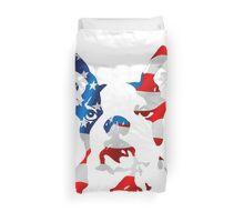 Patriotic Boston Terrier Duvet Cover