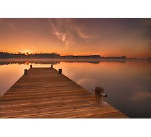 Sunrise on lake Photographic Print