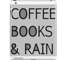 coffee books &rain iPad Case/Skin