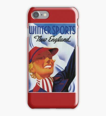 Winter sports New England retro vintage iPhone Case/Skin