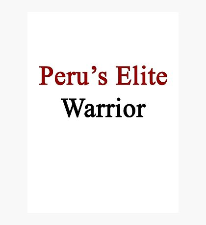 Peru's Elite Warrior  Photographic Print