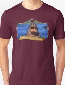 Happy Hippo Holidays Unisex T-Shirt