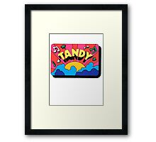 Vintage Tandy Electro decal Framed Print