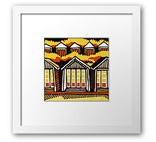 Beach Huts - Summer Framed Print