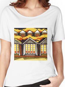 Beach Huts - Summer Women's Relaxed Fit T-Shirt
