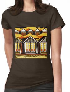 Beach Huts - Summer Womens Fitted T-Shirt