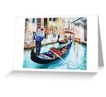 Gondola on a canal in Venice, Italy Greeting Card