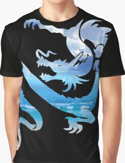 Ocean Sky Dragon Blend Graphic T-Shirt